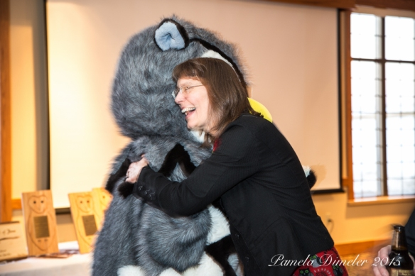Hooston made a surprise appearance at the banquet and played charades with the audience.