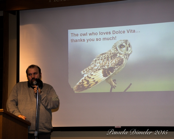 Marco Mastrorilli spoke about the Short-eared Owls in Italy.